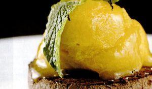Ingheţată de ciocolată cu serbet de mango