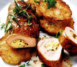 Muşchi de porc umplut cu gorgonzola