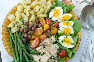 Salata Nicoise cu ton si ansoa