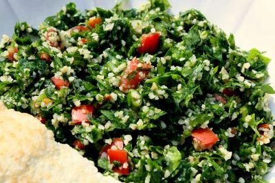 Chicken parsley tabbouleh