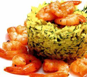 Creveti cu orez