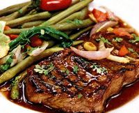 Cotlet in sos cu legume