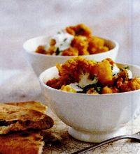 Curry de conopidă cu cartofi