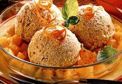 Inghetata caramel cu sos de portocale