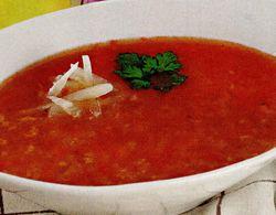 Ciorbă de roşii cu orez