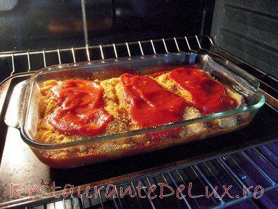 Pui parmigiana cu spaghete