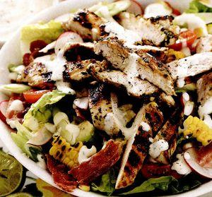 Salata de pui cu porumb copt