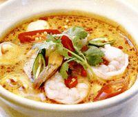 Supa-cremă de fasole cu creveţi