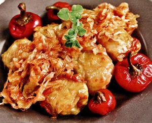 Sarmale cu carne de vanat (mistret)