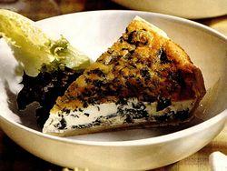 Tarta cu spanac si branza cu mucegai