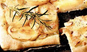 Pizza cu ciuperci si cartofi
