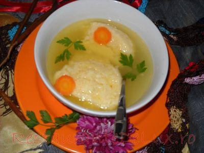 Galuste pentru supa cu faina si smantana