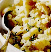 Cartofi cu usturoi si cimbru