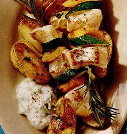 Salata de peste cu sos de mustar
