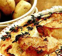 Sufleu de cartofi cu branza dulce si marar
