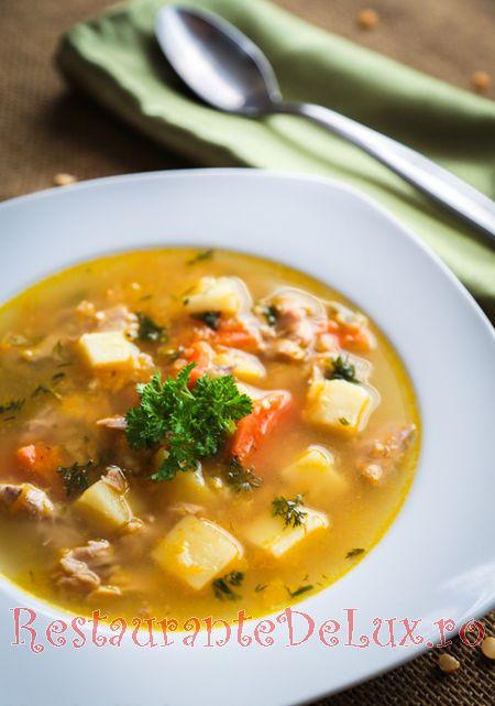 Supa cu carne de porc si legume