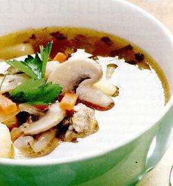 Supa de soia cu ciuperci