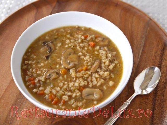 Supa de ciuperci cu orz