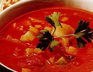 Bors de legume cu pasta de rosii