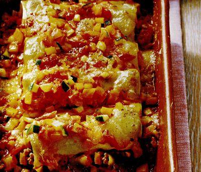 Cannelloni cu legume si telemea