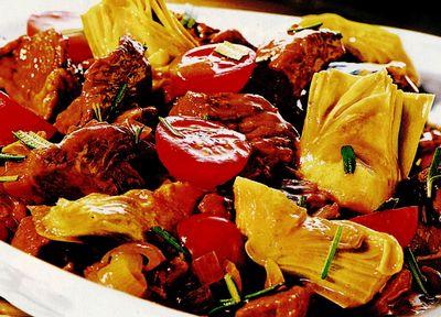 Salata de anghinare si crab