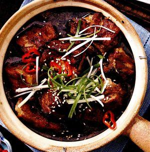 Carne de porc cu ghimbir si ananas