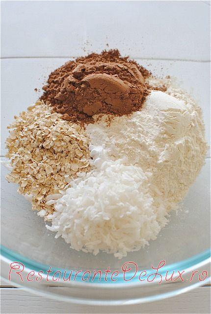 Prăjiturele cu nucă de cocos şi ciocolată