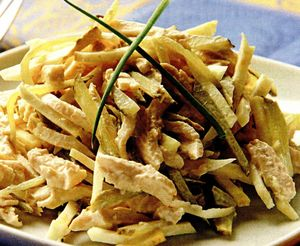Salata de telina cu piept de pui si maioneza
