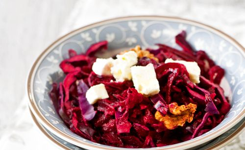 Salata cu varza rosie si sfecla