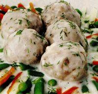 Chiftelute de curcan cu sos alb