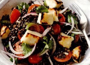 Salata de linte Puy cu rosii coapte