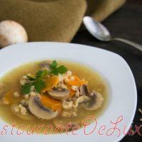 Supa cu orz si ciuperci