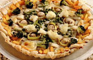 Tarta cu broccoli si ciuperci