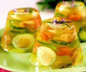 Ouacu legume in aspic