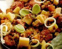 Carnaciori la cuptor cu legume