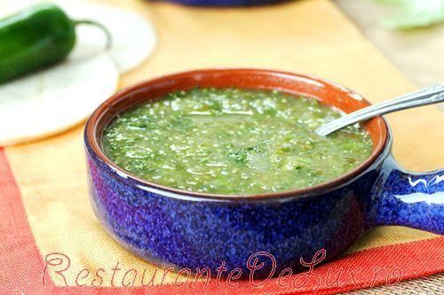 Salsa verde cu mustar si menta