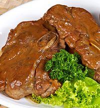 Carne de vita cu sos de hrean