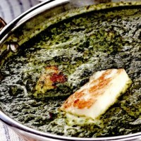 Spanac cu leurda si ceapa verde