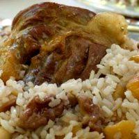 Pilaf cu carne de gasca