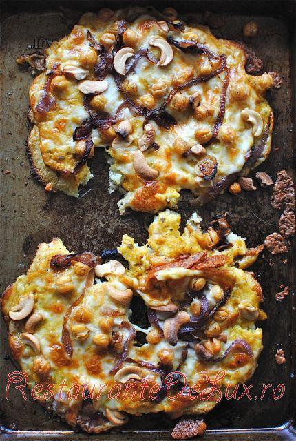 Pizza cu conopida si migdale