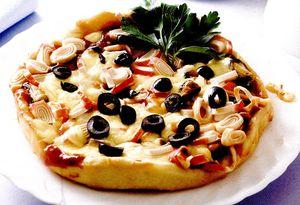 Pizza cu midiisi crabi