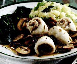 Peste (morun) cu ciuperci