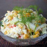 Salata de crab cu legume