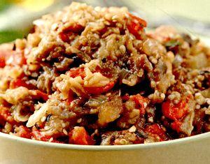Reteta salata de vinete cu ardei copti