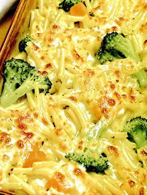 Budinca_cu_broccoli_si_spaghete