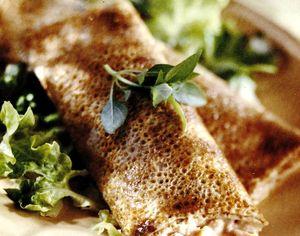 Clătite umplute cu friptură de miel