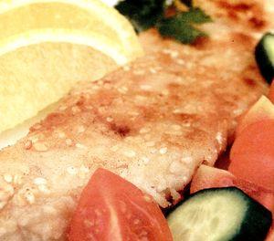 File de peşte in crusta de cartofi cu mustar