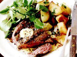Friptura_de_vita_la_gratar_cu_cartofi