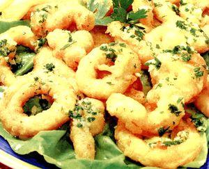 Calamari pane cu legume