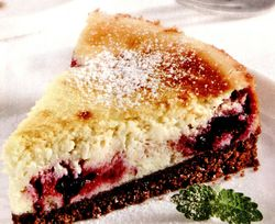 Cheesecake cu afine si branza de vaci
